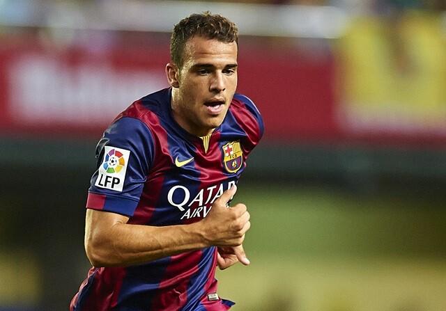 Sandro Ramírez, en un partido con elFC Barcelona