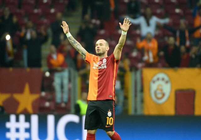 Wesley Sneijder con el Galatasaray