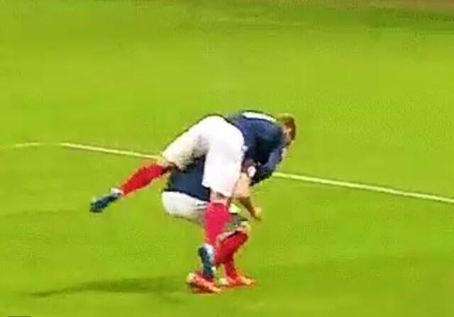 Benzema pudo ser lesionado por Griezmann