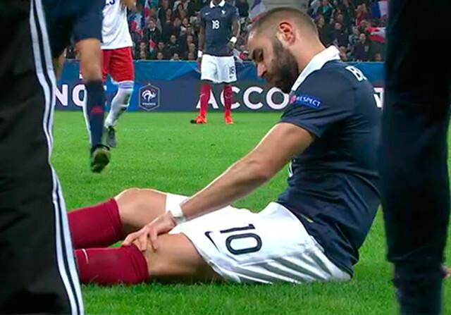 Karim Benzema se lesiona