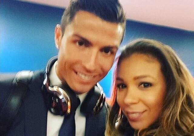 Cristiano Ronaldo, con la mujer de Thiago Silva