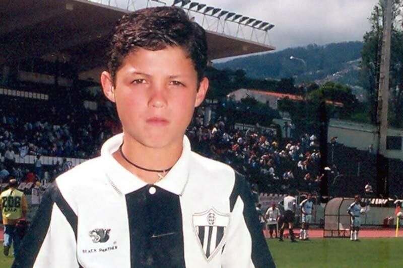 Cristiano Ronaldo, de niño