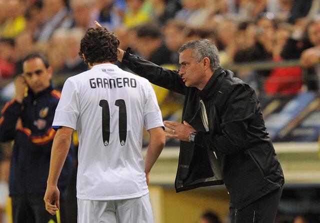Esteban Granero, junto a José Mourinho