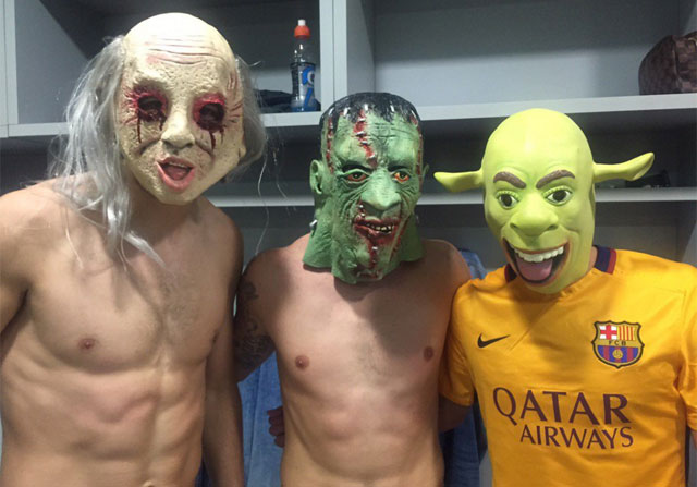 El Barça celebró Halloween