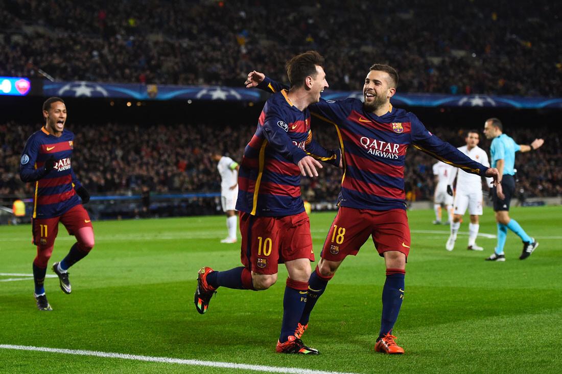 El Barça - Roma en imágenes