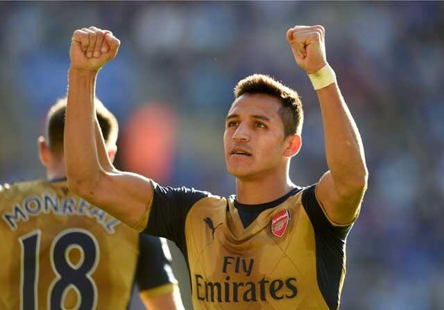 Alexis Sánchez celebrando un gol con el Arsenal