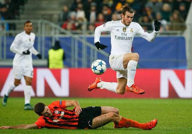 Gareth Bale, el que menos corrió ante el Shakhtar Donetsk