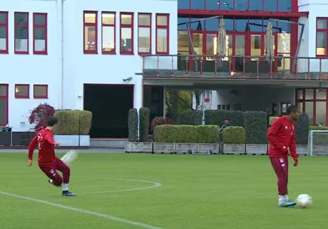 El Bayern Múnich entrenando