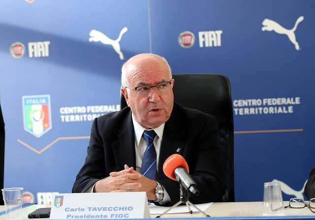 Carlo Tavecchio, presidente de la Federación italiana de fútbol