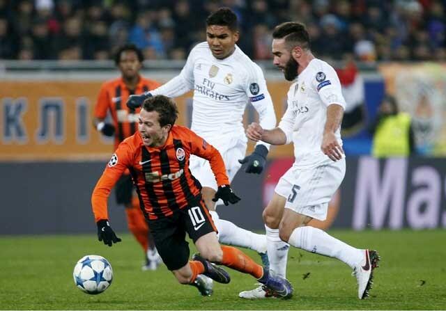 Carvajal y Casemiro jugando con el Real Madrid