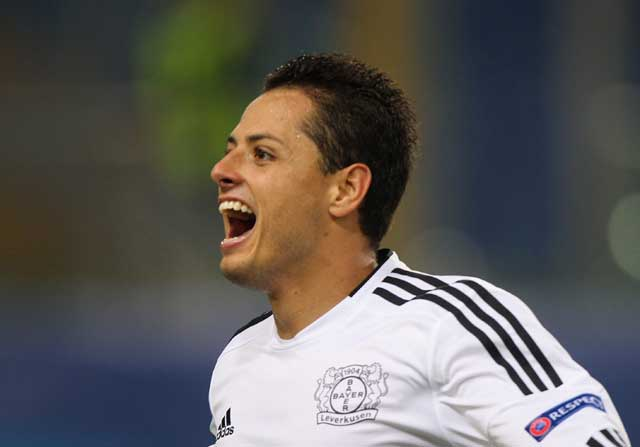 Chicharito Hernández con el West Ham United