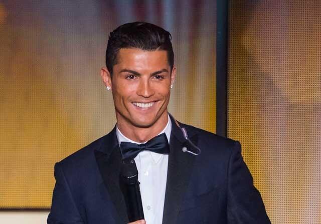 Cristiano Ronaldo en la gala del balón de oro