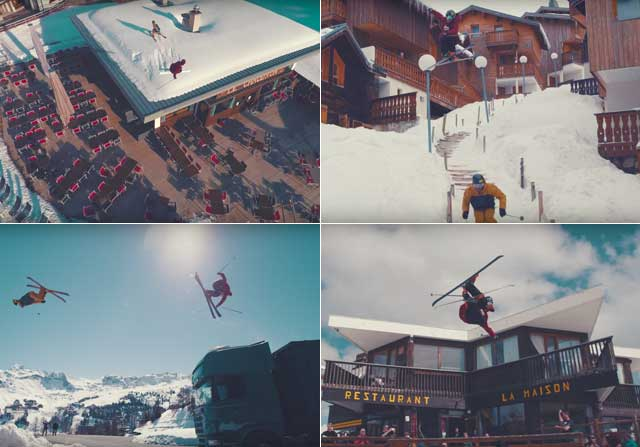 Espectacular demostración de habilidad sobre los esquís