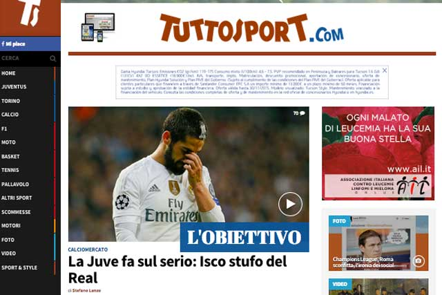 La Juventus quiere llevarse a Isco en enero