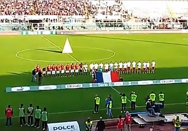Himno de Francia en la Serie B de Italia