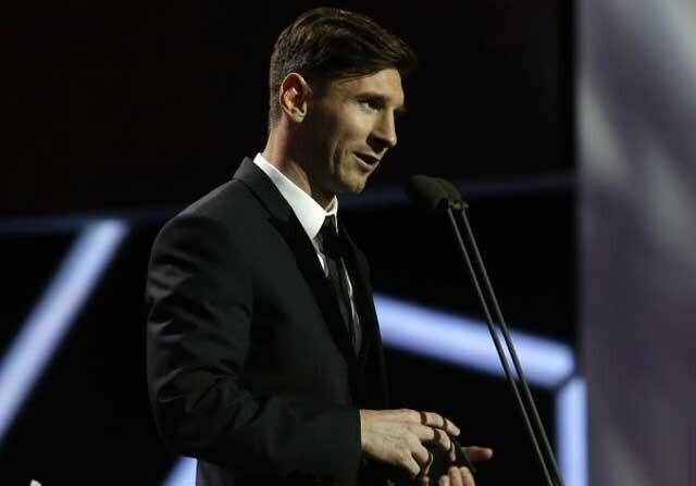 Leo Messi, en la gala de Premios de la LFP