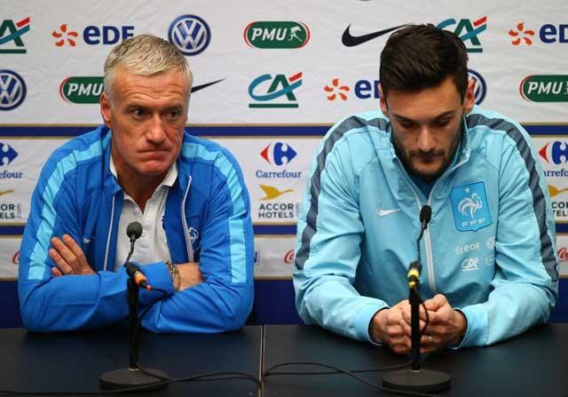 Hugo Lloris y Didier Deschamps