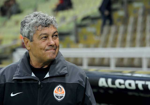 Lucescu durante un partido del Shakhtar Donetsk
