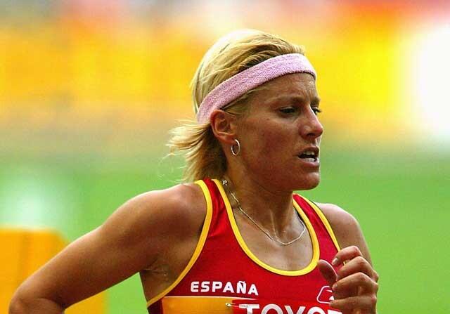 Marta Dominguez corriendo los 3000 metros