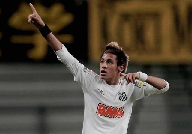 Neymar, como jugador del Santos