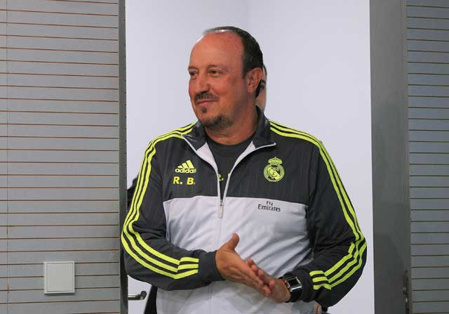 Rafa Benitez en rueda de prensa