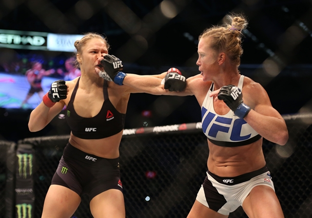 Ronda Rousey y Holly Holm