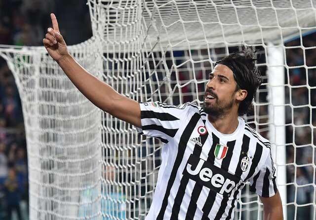 Sami Khedira celebrando un gol con la Juventus