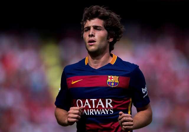Sergi Roberto jugando con el FC Barcelona