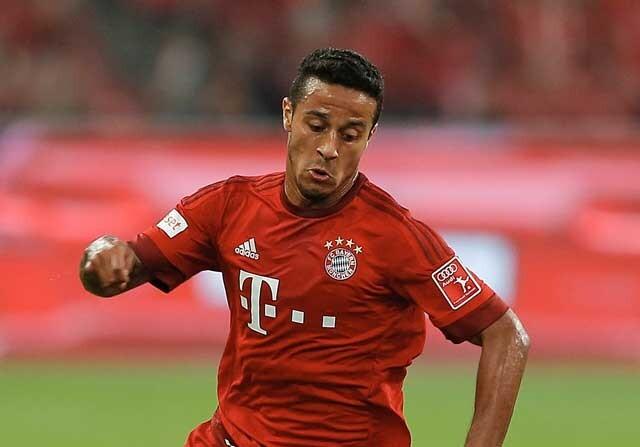 Thiago Alcantara jugando con el Bayern