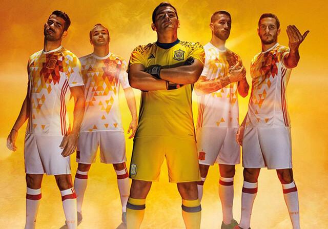 Segunda equipación de España para la Eurocopa