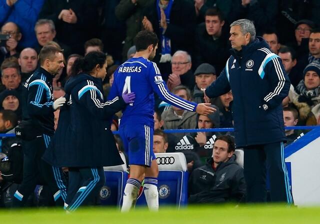 Cesc y Mourinho