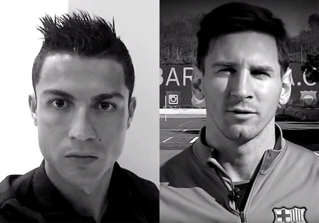 Cristiano y Messi y el 'Je suis Paris'