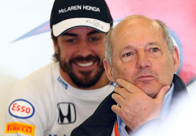 Ron Dennis y Fernando Alonso