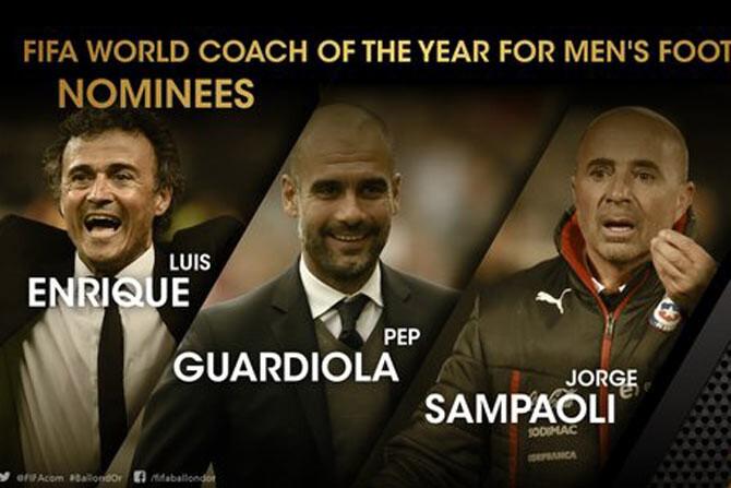 entrenadores nominados al balón de oro 2015