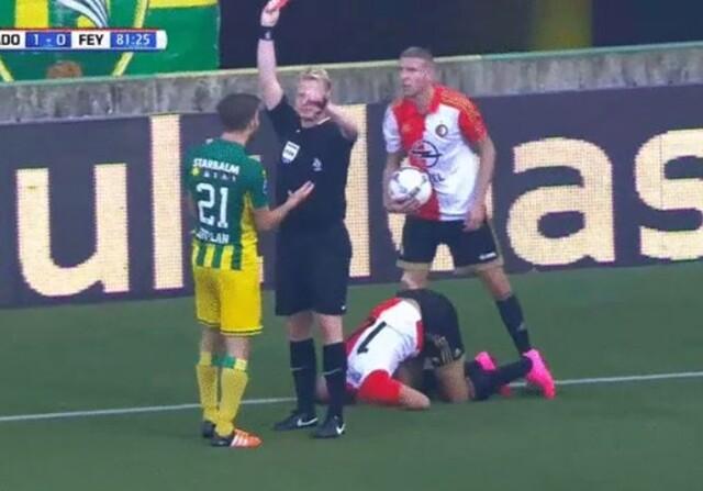 Simulación del Feyenoord que provoca una expulsión