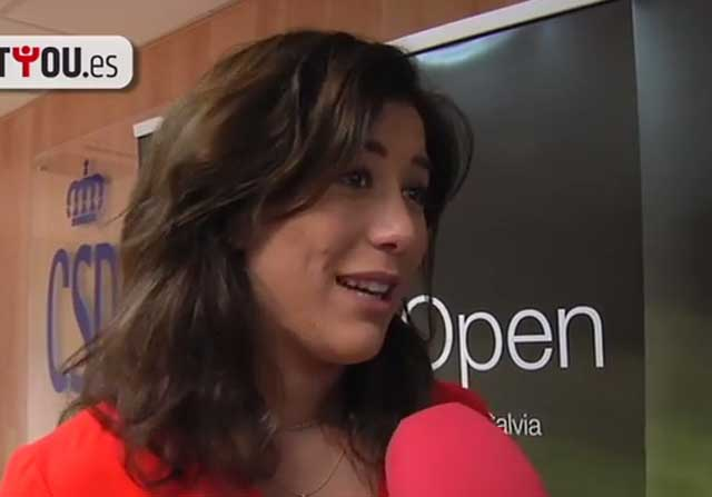 Garbiñe Muguruza en una entrevista