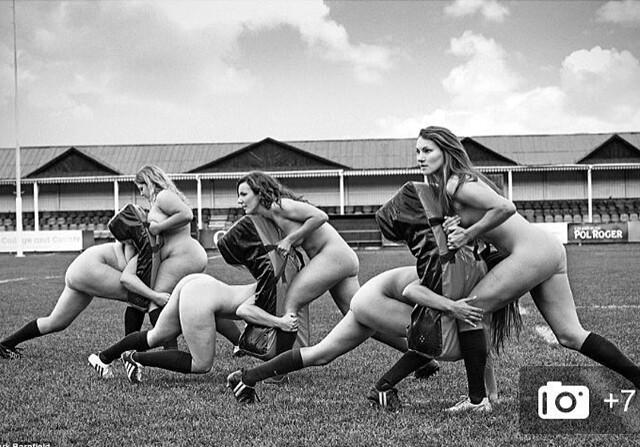 Calenario benefico del equipo femenino de rugby de Oxford