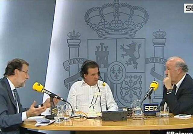 Mariano Rajoy con Vicente del Bosque