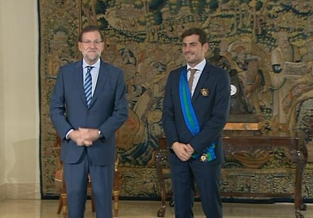 Mariano Rajoy e Iker Casillas