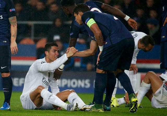 Thiago Silva y Cristiano