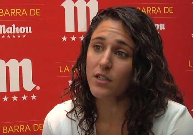 Vero Boquete durante una entrevista para Sportyou
