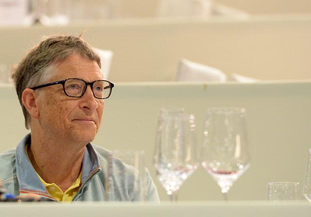 Bill Gates en un acto benéfico