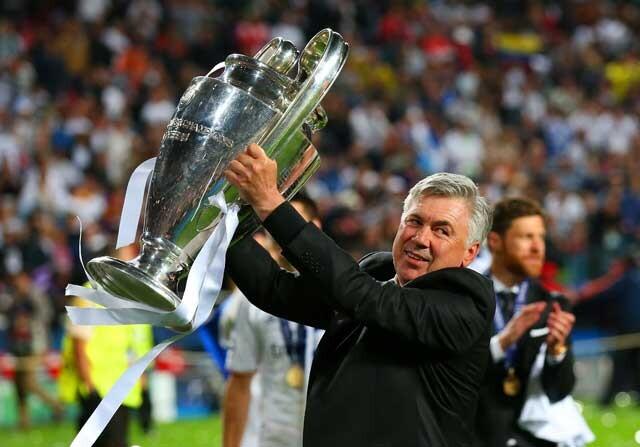 Carlo Ancelotti, con la Champions League