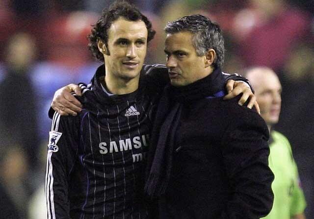 Ricardo Carvalho y José Mourinho