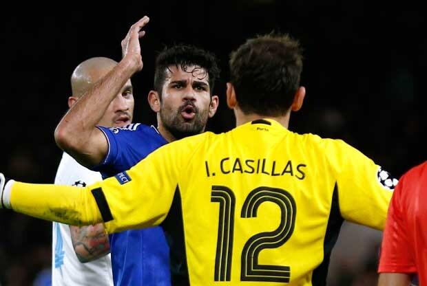 Pique entre Diego Costa e Iker Casillas