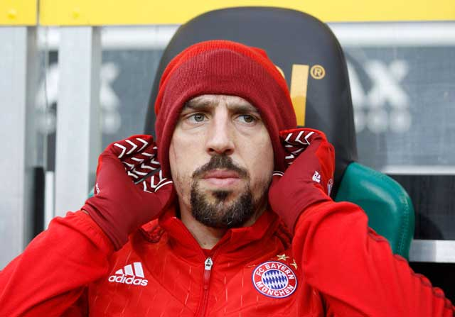 Franck Ribery, en el banquillo