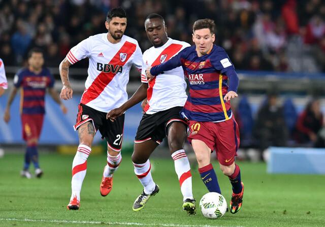 Leo Messi en la final del Mundial de Clubes