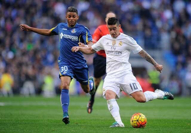 Un partido de Primera DIvisión entre Real Madrid y Getafe