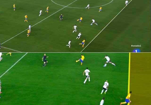 Análisis del posible fuera de juego en el gol de Luis Suárez al Valencia