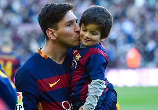 Messi y su hijo Thiago, anécdotas de la Gala de la LFP